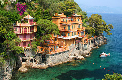Seaside villas in Portofino, Italy