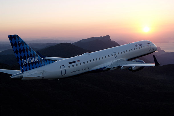 JetBlue Airplane in Sunset (Photo: JetBlue Airlines)