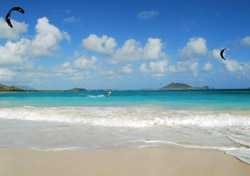 "<strong>Kailua, Oahu, Hawaii</strong>  When reader <a href=""http://www.smartertravel.com/community/?user_id=19703be16e533025b7dbb3a3449750f0-sl8bba08d1"""">coligny</a> insisted, ""Kailua Beach on Oahu in Hawaii has to be included in this list,"" we listened. Less than 15 miles northeast of Honolulu, <a href=""http://www.kailuachamber.com/"" target=""_blank"">Kailua</a> offers a nice reprieve from the hustle-and-bustle of the popular city.   Reader <a href=""http://www.smartertravel.com/community/?user_id=19703be16e533025b7dbb3a3449750f0-bkfb8d09a4"""">manasi</a> likes its location, and said, ""Just a short ride away from the more popular, more crowded Waikiki beach. Almost empty of tourists and with sugary white sand, clear turquoise water, and mountains in the backdrop, it's exquisite. Best of all, there is an island not too far from shore where you can row to and watch a lot of birds and wildlife. Really makes a great break from Waikiki.""  Reader <a href=""http://www.smartertravel.com/community/?user_id=19703be16e533025b7dbb3a3449750f0-sl4327cedd"""">Roomba1</a> added, ""The beach at Kailua, Oahu in The Islands of Hawaii is the finest!!! The white sand feels like one is walking on fine sifted flour! The water is the purest aqua blue and clear, and there are trees and the sunsets are magnificent. One must take a trail between houses to get there, but it is totally worth it. It is the perfect place for"