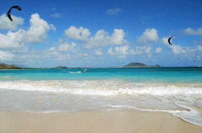 Hawaii: Kailua Beach Kitesurfing