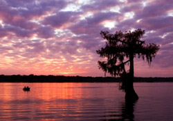 Sunset at Lake Martin near Breaux Bridge, Louisiana (Photo: iStockphoto.com/Paul Wolf)