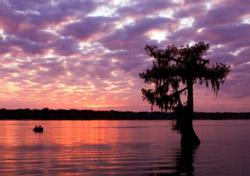 Sunset at Lake Martin near Breaux Bridge, Louisiana (Photo: iStockphoto.com/Paul Wolf)