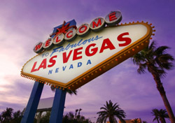 Las Vegas Welcome Sign at Sunset (Photo: iStockPhoto/Cecilia Lim)