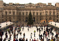 Ice Skating in London - Skating in front of Somerset House is one of London's top winter activities. (Photo: Rick Steves)