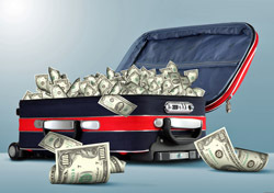Luggage: Money-Filled Bag (Photo: Shutterstock/Sergej Khakimullin)