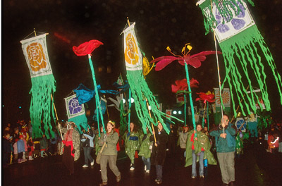 Flags in the Grand Procession, First Night Boston