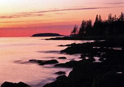 Sunset near Bar Harbor, Maine (Photo: Index Open)