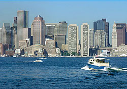 View of Boston from the harbor