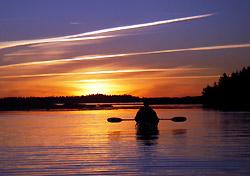 Sunset paddling in Maine (Photo: Coastal Kayaking Tours)