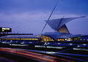 Milwaukee Art Museum at night (Photo: Timothy Hursley)