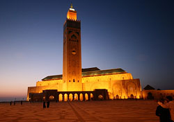 Grand Mosque at night, Casablanca, Morocco (Photo: Jean-Claude Gallard/iStockphoto)
