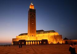 Grand Mosque at night, Casablanca, Morocco (Photo: Jean-Claude Gallard/iStockphoto)