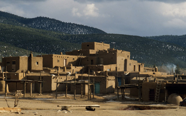 New Mexico: Taos, Pueblo Setting (Photo: Thinkstock/Photodisc/Karl Weatherly)