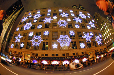 Saks 5th Avenue holiday facade
