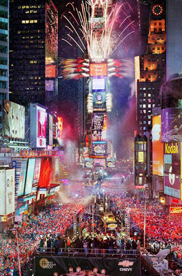 New Years festivities in Times Square