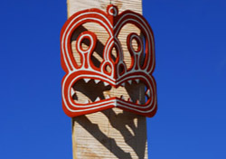 Maori sculpture in Kaikoura, New Zealand (Photo: Molly Feltner)
