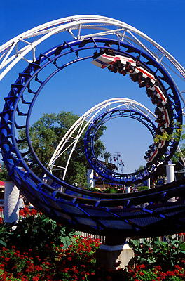 Corkscrew coaster at Cedar Point, Ohio