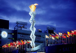 Olympic Cauldron (photo: Salt Lake Convention & Visitors Bureau)