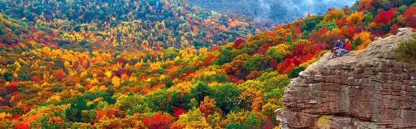Arkansas, Ozark Mountains - Sam's Throne off Hwy 123,  (Photo Credit: Arkansas Department of Parks & Tourism)