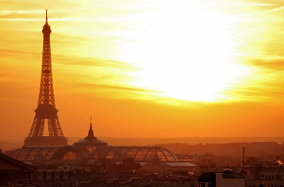 Paris Eiffel Tower at Sunset
