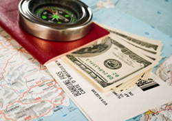Passport, Money, Compass, Map (Photo: Thinkstock/iStockphoto)
