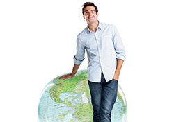 European Man with Globe (Photo: Shutterstock.com)