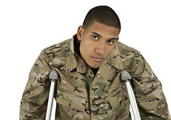 Young African-American Soldier on Crutches (Photo: Shutterstock.com)
