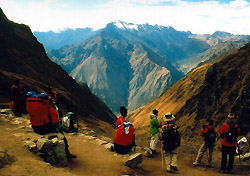 At the top of Dead Woman's Pass on the Inca Trail (Photo: Molly Feltner)