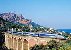 TGV on France's Cote Azur (Photo: RailEurope)