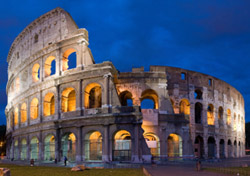 Rome Colosseum at Dusk (Photo: iStockPhoto/David Iliff)