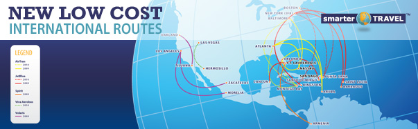 Low-Cost International Route Map