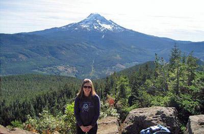 Sarah on Mount Hood