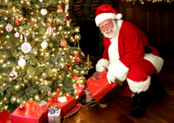 Santa With Christmas Tree (Photo: iStockphoto/Quavondo)