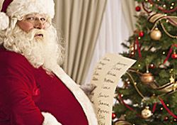 Christmas: Santa Checking Naughty Nice List (Photo: Thinkstock/Comstock Images)