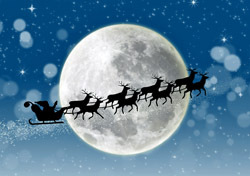 Santa: Sleigh Ride, Moon Background (Photo: Shutterstock/Creativa)