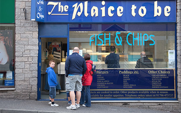 Plaice to Be Fish-and-Chip Shop, Pilochry, Scotland (Photo: Dominic Bonuccelli)