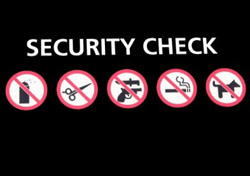Airport security check sign (Photo: iStockPhoto.com/Stephen Finn)