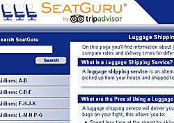 SeatGuru luggage shipping page (Photo: SeatGuru)