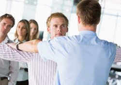 Air: Security - Man Being Patted Down (Photo: Thinkstock/Hemera)