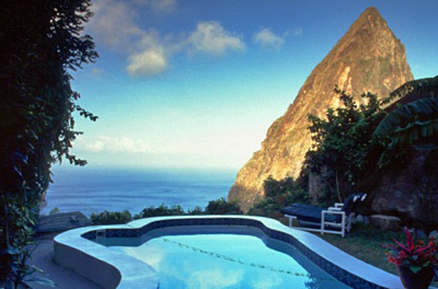 View from Ladera Resort, St. Lucia