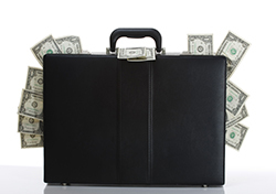 Baggage Fees (Photo: Suitcase with Money via Shutterstock)