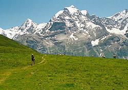 Hiking near Murren, Switzerland (Photo: Josh Roberts)