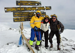 On the summit of Mt. Kilimanjaro (Photo: ZARA Tanzania Adventures)