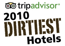 TripAdvisor Dirtiest Hotels 2010 Logo (Photo: TripAdvisor)