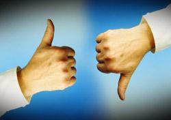 Thumbs Up and Thumbs Down (Photo: iStockPhoto/Julian Rovagnati)