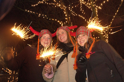 Revellers at Edinburghs Hogmanay Street Party