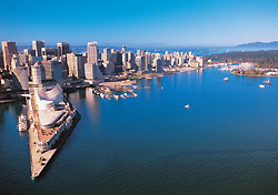Vancouver's waterfront (Photo: Tourism Vancouver/John Sinal)