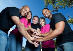 Volunteers/Teamwork (Photo: iStockphoto/Jeanell Norvell)