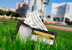 Wallet on Grass (Photo: Thinkstock/Hemera)