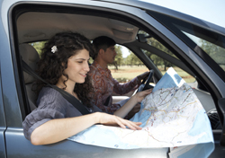 Woman Reading Map in Car (Photo: Thinkstock/Lifesize)